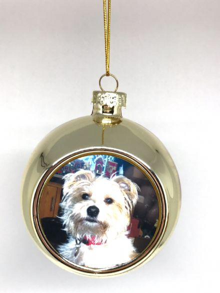 Personalised Christmas Glass Bauble or Ornament